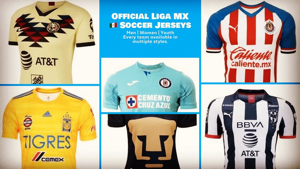 LIGA MX Official Soccer Jerseys for Men, Women, or Youth / Kids - RefuseYouLose.com - Refuse You Lose