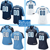 Tennessee Titans NFL Football Jersey For Men, Women, or Youth (Custom Name and Number) color: Alternate|Away|Home  Refuse You Lose