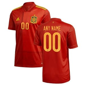 Spain Soccer Jersey For Men, Women, or Youth | Customizable color: 2018-2019 Home|2018-2019 Road|2020-2021 Home|2020-2021 Road  Refuse You Lose