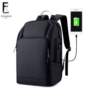 Waterproof Luxury Backpack Refuse You Lose color: Black