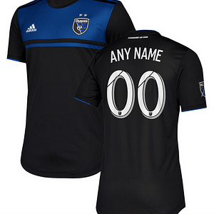 San Jose Earthquakes MLS Soccer Jersey for Men, Women, or Youth (Any Name and Number) color: 2018 Home|2018 Road|2019 Home|2019 Road  Refuse You Lose