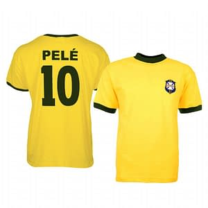 Pele Brazil Soccer Jersey for Men, Women, or Youth color: 1919 Anniversary|2020-2021 Home|Retro Home|Retro Road|Road World Cup  Refuse You Lose