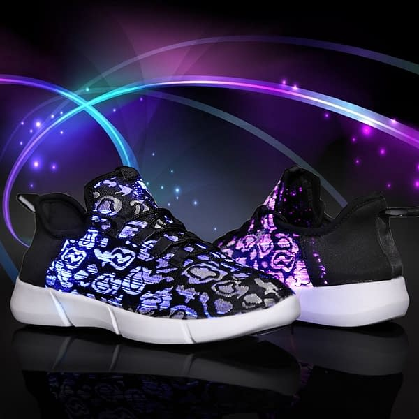 Glowing Shoes for Boys, Girls, Men, or Women color: Black|Pink|White  Refuse You Lose