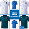 Italy Soccer Jersey For Women, Youth, or Men | Customizable color: 2020-2021 Home|2020-2021 Road|2020-2021 Third  Refuse You Lose