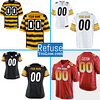 Pittsburgh Steelers NFL Football Jersey For Men, Women, or Youth (Any Name and Number) color: Black White Camouflage Pro Bowl Yellow Stripe  Refuse You Lose