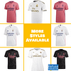 Real Madrid Soccer Jersey For Men, Women, or Youth   Custom color: 2020-2021 Home 2020-2021 Road 2020-2021 Third 2019-2020 Home 2019-2020 Road 2019-2020 Third 2018-2019 Home 2018-2019 Road 2018-2019 Third  Refuse You Lose
