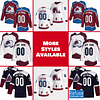 Colorado Avalanche Jersey For Men, Women, or Youth   Customizable color: Black Golden Reverse Retro Alternate Home Road  Refuse You Lose