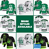 Dallas Stars Hockey Jersey For Men, Women, or Youth   Customizable color: Black Golden Reverse Retro Alternate Home Road  Refuse You Lose