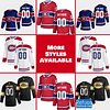 Montreal Canadiens Jersey For Men, Women, or Youth   Customizable color: Black Golden Reverse Retro Home Road  Refuse You Lose
