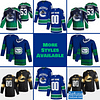 Vancouver Canucks Jersey For Men, Women, or Youth   Customizable color: Black Golden Reverse Retro Alternate Home Road  Refuse You Lose