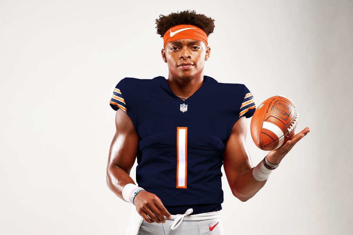 Justin Fields Chicago Bears Jersey for Men, Women, or Youth