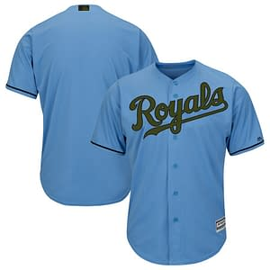 Kansas City Royals Jersey For Men, Women, or Youth   Customizable color: 2018 Nickname 2019 Alternate Light Blue 2019 Alternate Royal Blue 2019 Nickname 2020 Alternate Light Blue 2020 Alternate Royal Blue 2020 Home 2020 Road 2019 Home 2019 Road Memorial Day  Refuse You Lose
