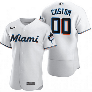 Miami Marlins MLB Jersey For Men, Women, and Youth | Customizable color: 2018 Nickname|2019 Alternate Black|2019 Alternate Blue|2019 Nickname|2020 Alternate Black|2020 Alternate Blue|2020 Home|Black V-Neck|2019 Home|2019 Road  Refuse You Lose