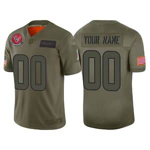 Houston Texans Football Jersey For Men, Women, or Youth   Customizable color: Black V-Neck Gray Alternate Red City Edition Pro Bowl Salute to Service Home Road  Refuse You Lose
