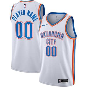 Oklahoma City Thunder Jersey For Men, Women, or Youth | Customizable color: Blue|White|Navy  Refuse You Lose