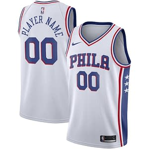 Philadelphia 76ers Jersey For Men, Women, or Youth | Customizable color: Blue|White|Red  Refuse You Lose