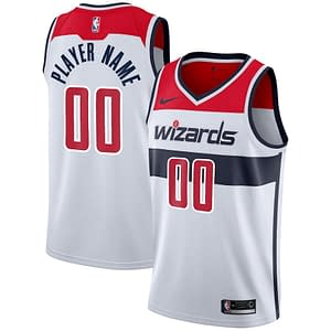 Washington Wizards Jersey For Men, Women, or Youth   Customizable color: White Navy Red  Refuse You Lose