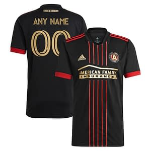 Atlanta United FC Jersey for Men, Women, or Youth | Customizable color: 2020 Home|2020 Road|2021 Home|2021 Road|2018 Home|2018 Road|2019 Home|2019 Road  Refuse You Lose