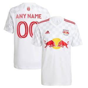 New York Red Bulls Jersey for Men, Women, or Youth | Customizable color: 2020 Home|2020 Road|2021 Home|2018 Home|2018 Road|2019 Home|2019 Road  Refuse You Lose