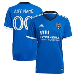 San Jose Earthquakes Jersey for Men, Women, or Youth | Customizable color: 2020 Home|2020 Road|2021 Home|2018 Home|2018 Road|2019 Home|2019 Road  Refuse You Lose