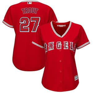 Mike Trout Angels Jersey for Men, Women, or Youth color: 2018 Nickname 2019 Nickname 2020 Alternate 2020 Home 2020 Road Black V-Neck 2019 Alternate Black 2019 Home 2019 Road Cream Memorial Day Salute to Service Spring Training  Refuse You Lose