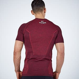 Men's Compression Quick Dry Sport T-Shirt color: Blue Gray Red  Refuse You Lose