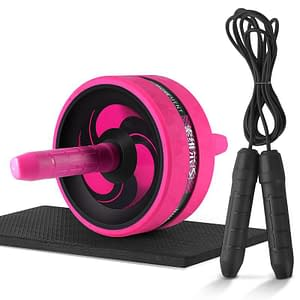 Roller&Jump Rope No Noise Abdominal Wheel Ab Roller with Mat For Exercise Fitness Equipment Accessories Body Building 2020 New Deals 🎉 Best Gifts of 2020 🎁 Best Gifts of 2020 For Women 🌹 Best Gifts of 2020 For Men 💪 color: Pink with rope  Refuse You Lose https://refuseyoulose.com