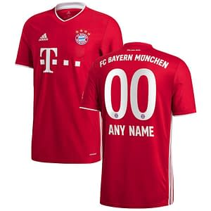 Customizable Bayern Munich Soccer Jersey for Men, Women, or Youth color: 2020-2021 Home 2020-2021 Road 2020-2021 Third  Refuse You Lose