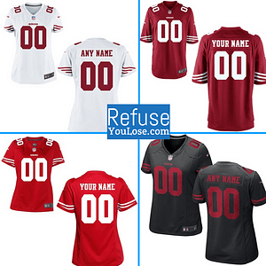 San Francisco 49ers Jersey For Men, Women, or Youth | Customizable