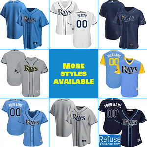 Tampa Bay Rays Jersey For Men, Women, or Youth | Customizable brand: Refuse You Lose  Refuse You Lose
