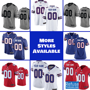 Buffalo Bills Football Jersey For Men, Women, or Youth | Customizable brand: Refuse You Lose  Refuse You Lose