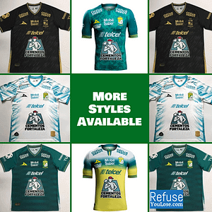 Club León Soccer Jersey for Men, Women, or Youth | Customizable color: 2020-2021 Home|2020-2021 Road|2020-2021 Third|2019-2020 Home|2019-2020 Road  Refuse You Lose
