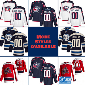 Columbus Blue Jackets Jersey For Men, Women, or Youth | Customizable color: Black Golden|Reverse Retro|Alternate|Home|Road  Refuse You Lose