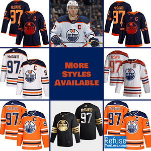 Connor McDavid Oilers Jersey For Men, Women, or Youth color: Black Golden|Reverse Retro|Alternate Blue|Home|Road  Refuse You Lose