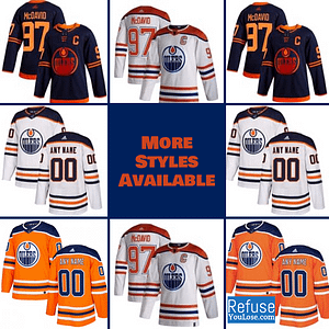 Edmonton Oilers Jersey For Men, Women, or Youth | Customizable color: Black Golden|Reverse Retro|Alternate Blue|Home|Road  Refuse You Lose