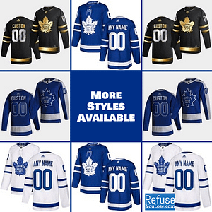 Toronto Maple Leafs Jersey For Men, Women, or Youth | Customizable color: Black Golden|Reverse Retro|Home|Road  Refuse You Lose
