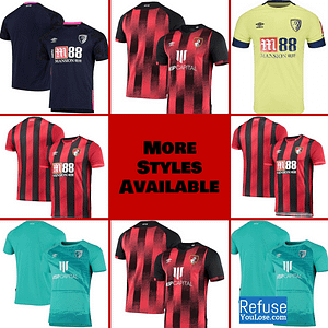 AFC Bournemouth Jersey for Men, Women, or Youth | Customizable color: 2020-2021 Home|2020-2021 Road|2020-2021 Third|2019-2020 Home|2019-2020 Road|2019-2020 Third  Refuse You Lose
