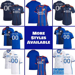 FC Cincinnati Soccer Jersey for Men, Women, and Youth | Customizable brand: Refuse You Lose  Refuse You Lose