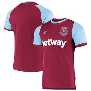 West Ham United Jersey for Men, Women, or Youth   Customizable color: 2019-2020 Home 2019-2020 Road 2019-2020 Third 2020-2021 Home 2020-2021 Road 2020-2021 Third  Refuse You Lose