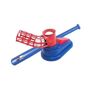 Automatic Baseball Ball Machine Set Safe Durable Children Baseball Pitching Machine Launcher Toy Sports Baseball Training Toys color: Hand press|Step on  Refuse You Lose
