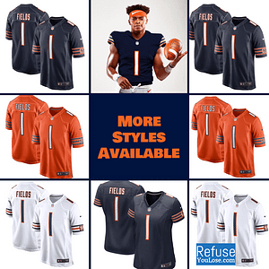 Justin Fields Bears Jersey for Men, Women, or Youth color: Alternate Orange|Home|Road  Refuse You Lose
