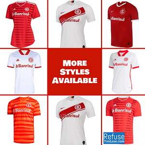 Sport Club Internacional Jersey for Men, Women, or Youth | Customizable color: 2021-2022 Home|2020-2021 Home|2020-2021 Road|2020-2021 Third|2019-2020 Home|2019-2020 Road  Refuse You Lose