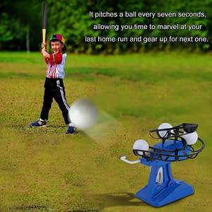 Mini Kids Baseball Practice Adjustable Intelligent Automatic Pitching Machine Sports Learn To Play Tool Blue pa_d41d8cd98f00b204e98009:  Refuse You Lose