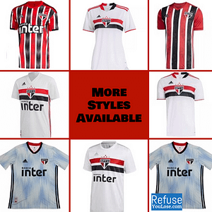 São Paulo Soccer Jersey for Men, Women, or Youth | Customizable color: 2021-2022 Home|2020-2021 Home|2020-2021 Road|2019-2020 Home|2019-2020 Road|2019-2020 Third  Refuse You Lose