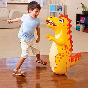 Inflatable Punching Bag for Kids color: Dinosaur|Dolphin|Fighter|Flash|Tiger  Refuse You Lose