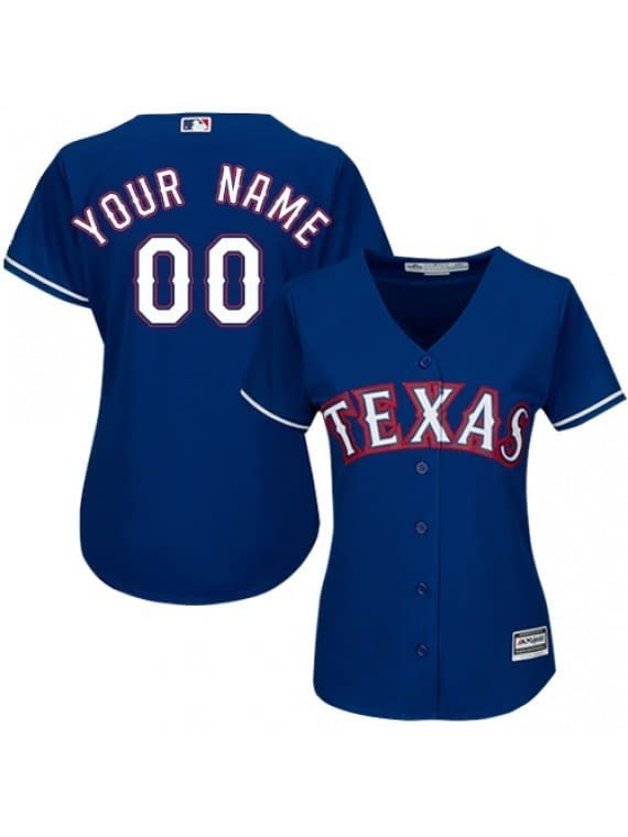 Texas Rangers MLB Baseball Jersey For Men, Women, or Youth (Any Name and Number) Refuse You Lose color: 2018 Nickname|2019 Alternate Red|2019 Alternate Royal Blue|2019 Nickname|2020 Alternate Light Blue|2020 Alternate Red|2020 Alternate Royal Blue|2020 Home|Black V-Neck|2019 Home|2019 Road|Home Memorial Day|Road Memorial Day