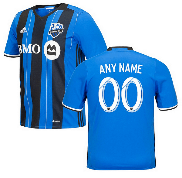 Montreal Impact MLS Soccer Jersey for Men, Women, or Youth (Any Name and Number) Refuse You Lose color: 2018 Home|2018 Road|2019 Home