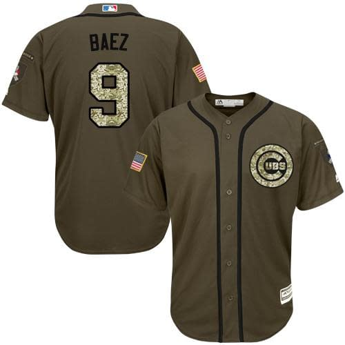 Javier Baez Chicago Cubs Salute to Service MLB Baseball Jersey