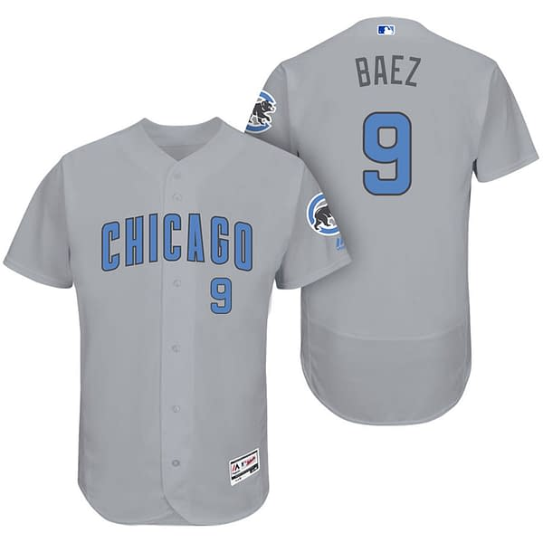 Javier Baez Chicago Cubs Road Father's Day MLB Baseball Jersey
