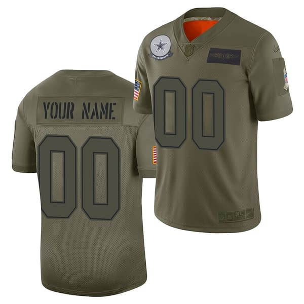 Dallas Cowboys Salute to Service NFL Football Jersey